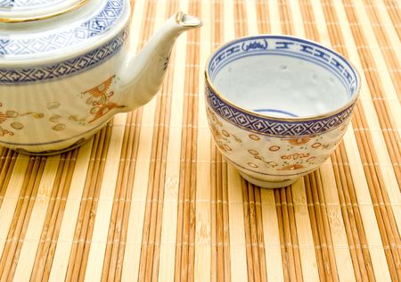 Chinese tea set photo