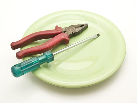 dish with tools photo
