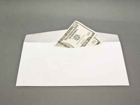 envelope and dollars photo