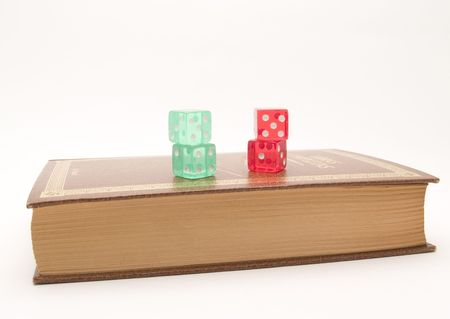 book and dice photo