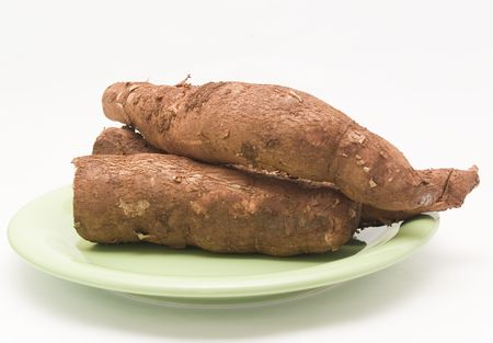 starchy food: cassava Stock Photo
