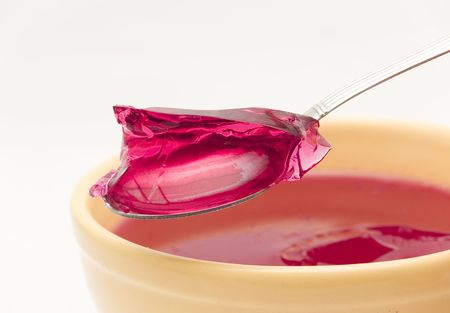 gelatina: gelatina de frambuesa