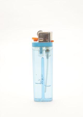 blue plastic lighter photo