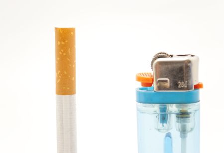 and cigarette lighter Stock Photo - 6478455