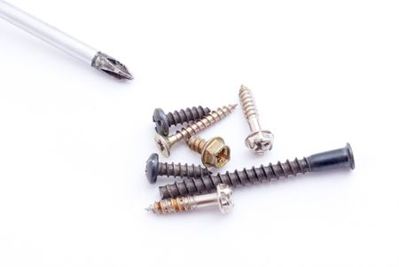 screwdriwer: screwdriver and screws