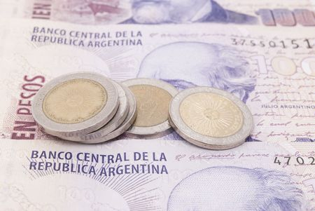 Argentine banknotes and coins