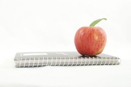 objectivity: apple notebook Stock Photo