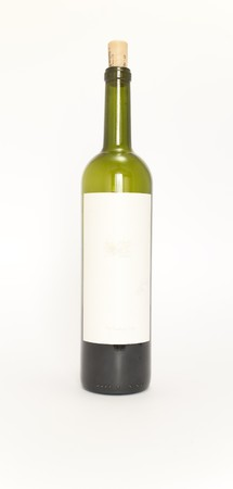 bottle of wine with blank label photo