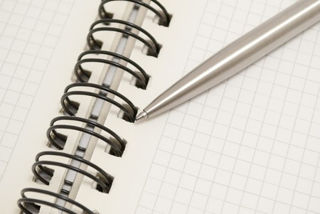 pen and notebook Stock Photo - 7320827