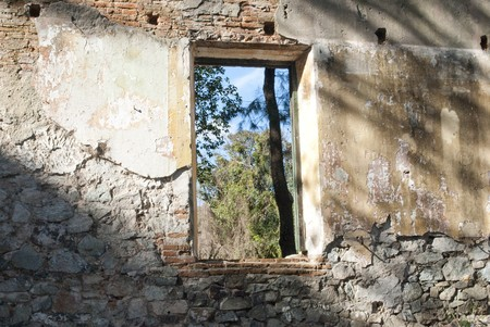 collapsed: collapsed building window