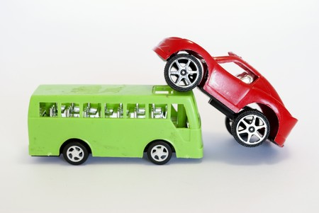 buss: toy car and buss Stock Photo