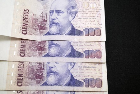 pesos: Argentine pesos  Stock Photo