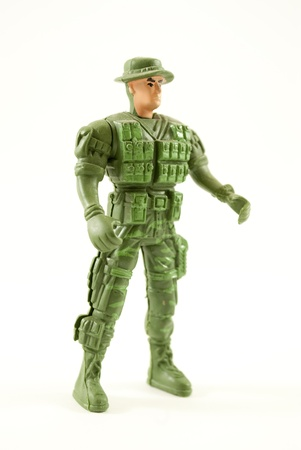 plastic soldier: Toy Soldier Stock Photo