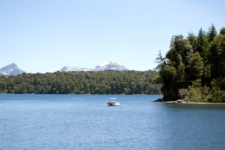 lake argentina: Lake Nahuel Huapi, Patagonia Argentina Stock Photo