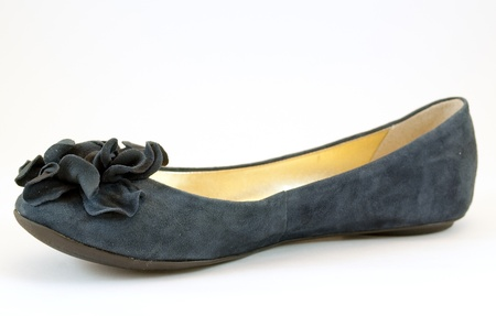 moccasin: Ladys Moccasin with Bow Stock Photo
