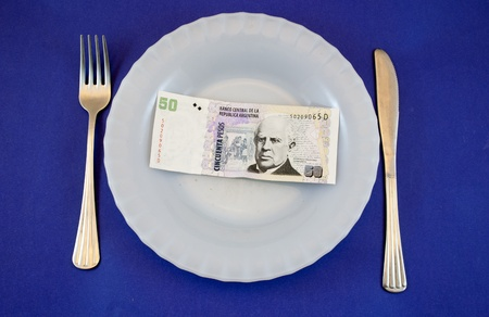 plate with money Stock Photo - 10572383