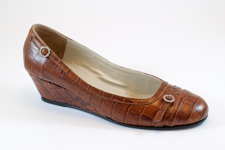 moccasin: Womens moccasin Stock Photo