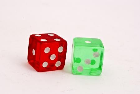 Acrylic dice photo