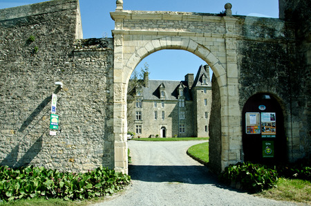 warheads: medieval construction, Bayeux, France