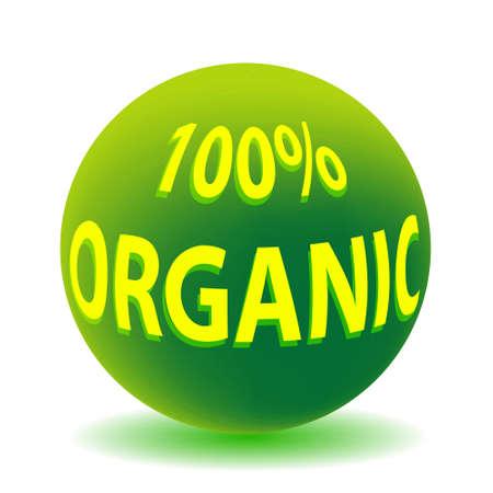 100 Percent Organic Globe Ilustração
