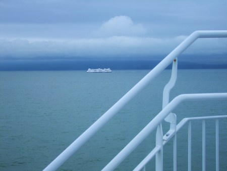 hand rail: Ferry Ride in British Columbia
