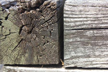 風景、木材、木材、造園、風化 写真素材