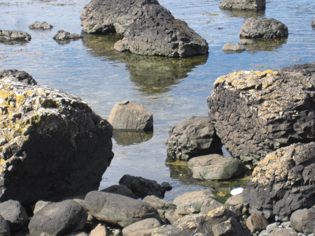 Rocky waterline Stock Photo
