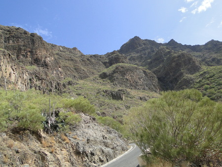 View of mountain peak in Tenerife