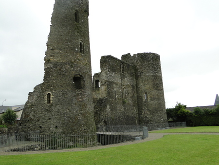 The ruins of Ferns Castle is located in Ireland county of Wexford. The Norman castle was built in the 13th century Stock Photo