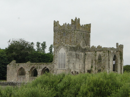 Ruins of Tintern Abbey, a former Cistercian abbey in County Wexford in the Republic of Ireland
