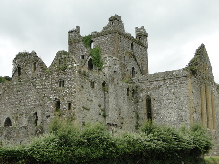 Dunbrody Abbey ruins in County Wexford in the Republic of Ireland today