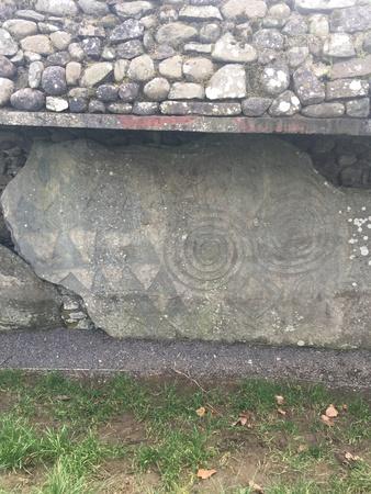 Newgrange tomb, Ireland Stock Photo