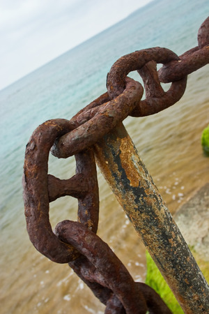 fetter: Chain on the sea Stock Photo