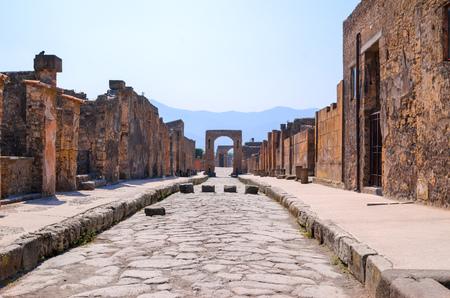 DESERT STREET OF ITALY POMPEI Stock Photo