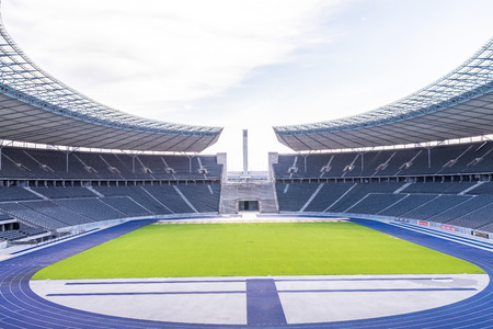 summer olympics: Berlin, Germany, August 2016:  Berlins Olympia Stadium the current Olympiastadion was originally built for the 1936 Summer Olympics in the southern part of the Reichssportfeld on May 23 2010, Berlin Germany Editorial