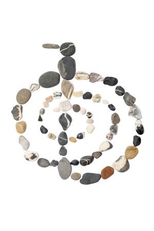 reiki symbol: Cho-ku-rei in stones