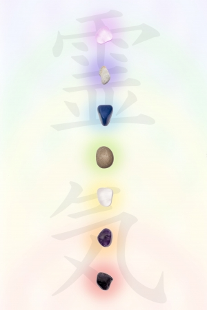 Chakras with stones Stock Photo - 21618387
