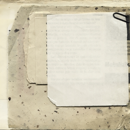 Various blank papers with staple, vintage background  framework for your content   photo