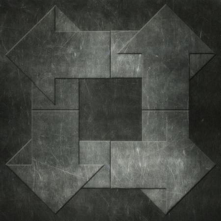 Grunge arrows background, metal texture photo