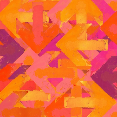 fluorescent: Artistic grunge design arrows background in a warm colors Stock Photo
