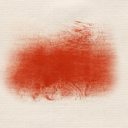Hand painted red dry brush strokes, drawing paper texture  framework for your content  photo
