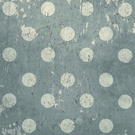 Elegant vintage polka dots background, grunge metal texture Standard-Bild