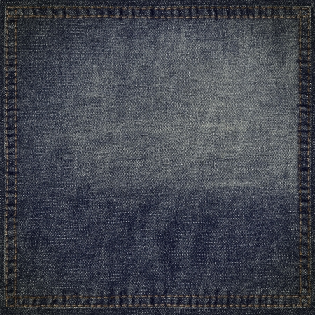 jeans texture: Blue jeans grunge background with stitched frame