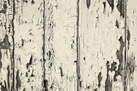 Grunge shabby background texture  of white painted wooden board with peeling paint Archivio Fotografico