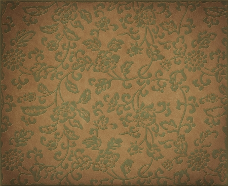 Vintage floral background, flowers ornament on natural leather texture Archivio Fotografico