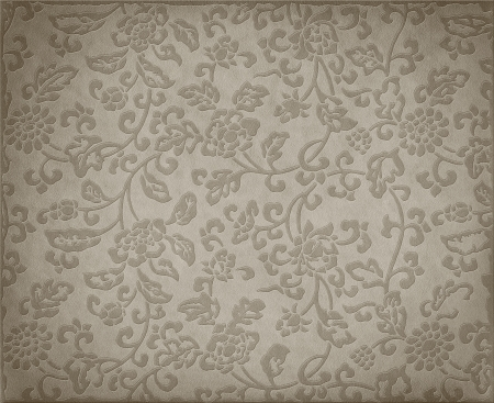 Vintage grey floral background, flowers ornament on leather texture