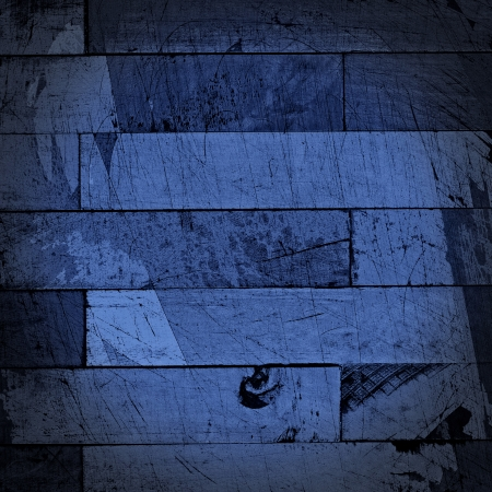 Grunge dark blue background illustration with painted wooden planks texture