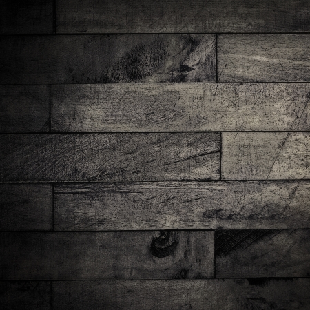 Grunge grainy dark background illustration with shabby wooden planks texture