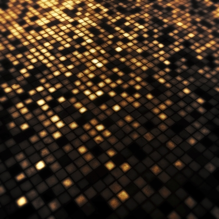 illuminative: Grunge illuminated brown tiled background