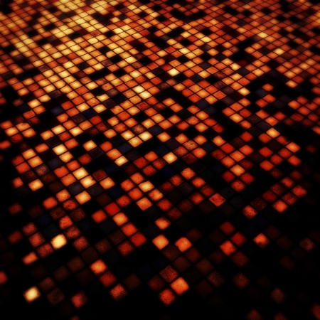 Grunge illuminated red tiled  photo